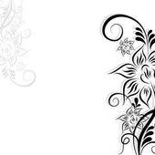 Fond fleur abstraite — Vecteur