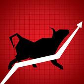 Market growth — Stock Vector