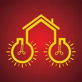 Bulb make a home — Stock Vector