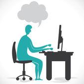 Online working — Stock Vector