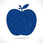 Manzana con engranaje — Vector de stock
