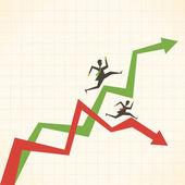 Business chart — Stock Vector