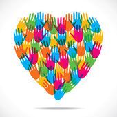 Creatieve hand ontwerp hart — Stockvector