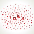Idea word — Stockvectorbeeld