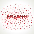 Growth text with in alphabets — Stock Vector