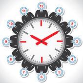 Abstracte klok ontwerp en kleur — Stockvector