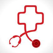 Stethoscope make a heart shape — Stock Vector