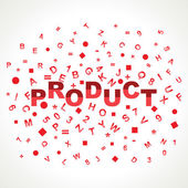 Product word — Stock Vector