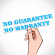 No Guarantee No warranty — Stock Vector