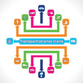 Transportational ícones — Vetorial Stock