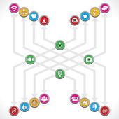 Social Network icons — Vector de stock