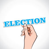 Election text in hand — Stock Vector