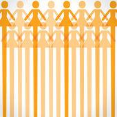 Orange woman icon background — Stock Vector