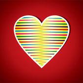 Красный раздели формы сердца — Cтоковый вектор