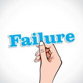 Başarısızlık kelime el — Stok Vektör