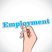 Employment word in hand — Stock Vector