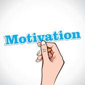 Motivation word dans la main — Vecteur