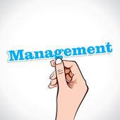 Management Word in hand — Stock Vector