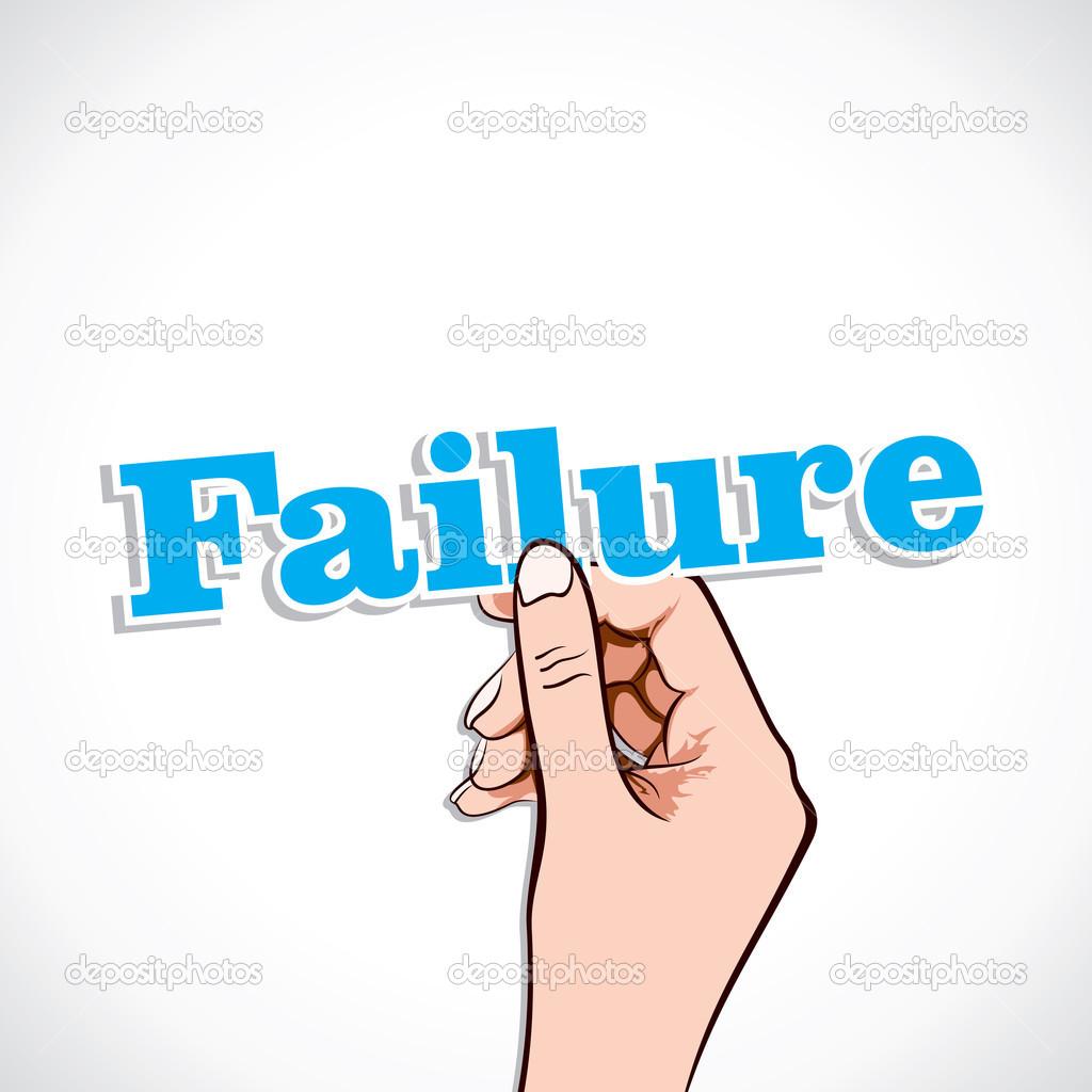 Failure word in hand — Stock Vector © designwork07 #24284533
