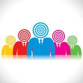 Businessmen team — Stock Vector