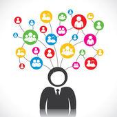 социальные связи — Cтоковый вектор