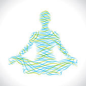 Abstract yoga girl — Stock Vector