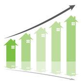 Home graph — Stock Vector