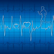 Heart beat graph - Stock Vector