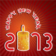 Royalty-Free Stock Vektorgrafik: New year Greeting with candle