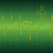 Health graph — Stock Vector