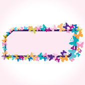 Butterfly background — Stock vektor