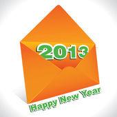 Saudação de ano novo com envelope — Vetor de Stock