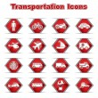Royalty-Free Stock Vector Image: Set of Transportational Icons