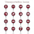 Royalty-Free Stock Imagen vectorial: Transportation sing and symbol