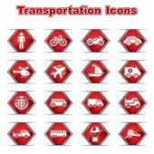 Conjunto de ícones transportational — Vetorial Stock