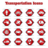 Set of Transportational Icons — Vetorial Stock
