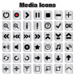 Set of Media Icons — Stock Vector #24466307