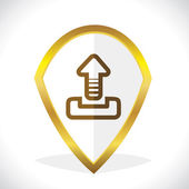 Uploading Icon Design — Stock Vector