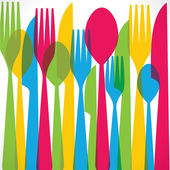 Colorful fork pattern background — Stock Vector