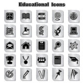 Set of Educational Icons — Stock Vector