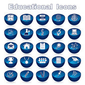 Educational Icons — Vettoriale Stock