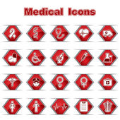Set of Medical or Healthcare Icons — Vettoriale Stock