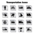 Stock Vector: Set of Transportational Icons