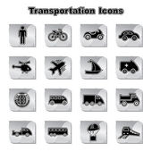 Set of Transportational Icons — Stock Vector