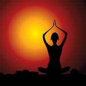 Yoga women figure — Stock Vector