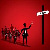 Zdaniem przyszłość — Wektor stockowy