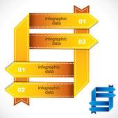 Yellow info-graphics — Stock Vector