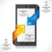 Info-graphic mobile — Vecteur