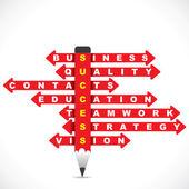 Negocios relacionados con la palabra — Vector de stock