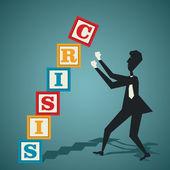 Crisis concept — Stock Vector